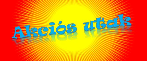 Akciós utak logo piros
